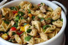 Balsamic Chicken, Spinach, Tomato, and Tortellini Salad.