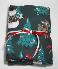 Christmas Sheet Toddler Sheet Crib Sheet Fitted by KidsSheets, $24.00