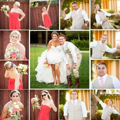 Bridal Party Photo- individual funky photos of the wedding party   Wish my bp were better listeners. I love this idea!
