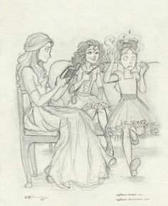 Andromeda, Bellatrix and Narcissa by captbexx