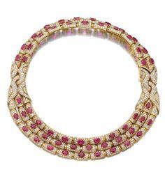 Ruby and diamond necklace, Bulgari