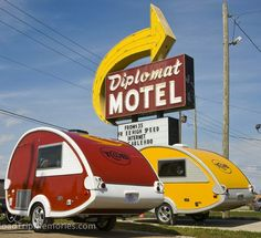 retro looking teardrop campers