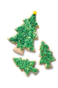 Soft Sugar Cookie Trees - 48 Recipes You Need To Try This Holiday Season - Southernliving. Recipe: Soft Sugar Cookie Trees