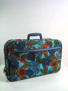 old floral suitcase ~I had one like this in some sort of paisley print