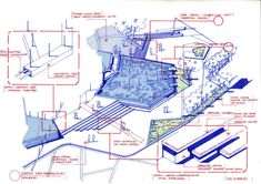 Sketch overall detail:Sale office (view01)/building staircase & reflecting pond