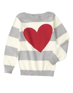 Stripe Heart Sweater at Crazy 8