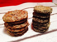 Banana & chia or linseed biscuits