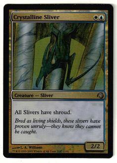 Magic the Gathering - Premium Deck - Crystalline Sliver - FOIL Uncommon Card #MagictheGatheringWizardsoftheCoast