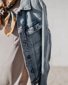 Kaylie Sirek Photography // Nebraska Wedding and Engagement Photographer // Fall fashion inspiration // Urban Outfitters denim jacket paired with a silk scarf