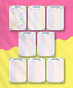 Plan your meal plans and keep kitchen inventory easily. The content of the planner is based on 8 different templates that you can print as many times as you want. With the ready-to-print meal planner in floral style designed to help you be more productive and organized. #weekly #week #plan #printable #prep Free Meal Planner, Weekly Planner Template, Weekly Planner Printable, Diary Planner, Planner Inserts, Pantry Inventory, Family Calendar, Floral Style, Meals For The Week