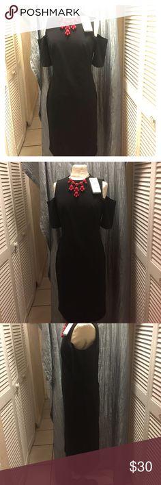 Zara design black elegant dress Outstanding black gorgeous open shoulders dress  ware any occasion Zara Woman Dresses High Low