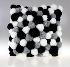 Pom Pom Pom Pom Pillow Handmade Pillow by PomPomMyWorld . - Rug making Handmade Cushions, Diy Pillows, Handmade Rugs, Decorative Pillows, Pom Pom Rug, Pom Poms, Pom Pom Crafts, Yarn Crafts, Cute Crafts