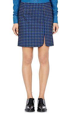 Geometric-Print Miniskirt
