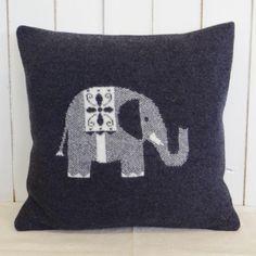 Knitted Elephant Cushion - Homeware by Jamie Kay