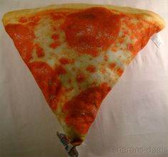 Pepperoni Pizza Food Pillow Realistic Looking Sweet Dreams Soft Plush Throw Gift #SweetDreamsPillows