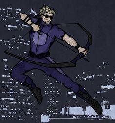 Hawkeye #illustrated by Aya Krisht via Inkalypse