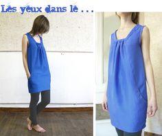 robe bleue, burda fév 2008