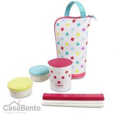 Zojirushi Thermal Bento Lunch Box Dot Colours