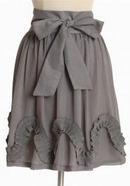 Bows & ruffles in gray. I'm all over that.