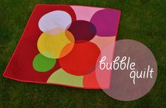 Bubblequilt by Sewfrench - explanation of the fabric and color selection process