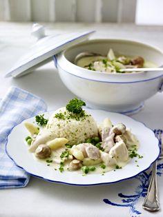 Unser beliebtes Rezept für Hühnerfrikassee und mehr als 55.000 weitere kostenlose Rezepte auf LECKER.de.