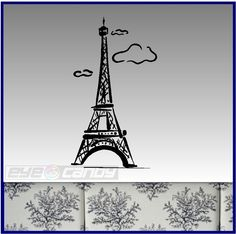 Eiffel Tower Wall Decal Sticker Art Graphic