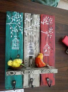 Chalk Crafts, Wood Crafts, Fun Crafts, Diy And Crafts, Arte Pallet, Pallet Art, Pintura Patina, Keep Calm And Diy, Artistic Wallpaper