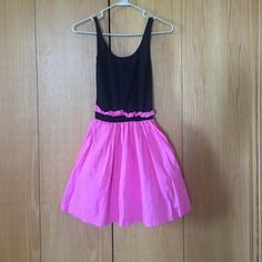 Victoria's Secret Pink Dress Women's Size XS In perfect condition, only worn twice. Has pockets on skirt. Great for summer! Top-84% Nylon, 16% Spandex. Skirt-100% Cotton. Victoria's Secret Dresses Mini