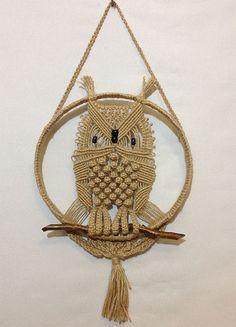 Handmade-macrame-owl-with-natural-jute
