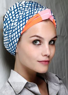 The top 8 hair trends of spring 2013  Yay! Messy, frizzy hair is back for summer. Sadly, so is the turban. :/
