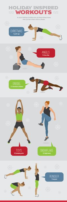 The Hectic Holiday Guide to Keeping Your Health Goals: Avoid Traps and Fit in Workouts! - Holiday-Inspired Workouts – Hectic Holiday Guide to Keeping Your Health Goals - You Fitness, Fitness Goals, Health Fitness, Health Goals, Health And Wellness, Workout Videos, Workouts, Exercises, Holiday Workout