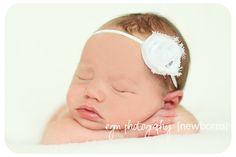 White Baby Headband Headband Baby Girl by CountryBabyHandmade