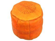 Light orange leather seats from Morocco http://www.etnobazar.pl/shop/etnoswiat/profile/search/ca:pufy