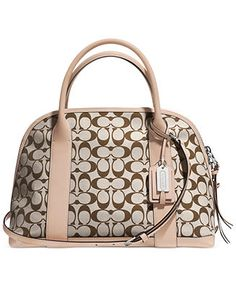 COACH BLEECKER PRESTON SATCHEL IN PRINTED SIGNATURE FABRIC Handbags    Accessories - COACH - Macy s 29c494ff0afe3