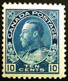 Canada #117 5c Blue 1922 King George V VF Mint Hinged, beautifully well centered within 4 large Margins, full gum, Fresh & Bright, item # 180969909696