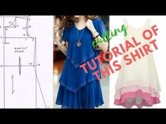 TOP STYLISH & BEAUTIFUL DESIGNER KURTI/KURTA CUTTING STEP BY STEP - YouTube Fashion Show Dresses, Stylish Dresses, Stitching Dresses, Top Stitching, Sewing Baby Clothes, Baby Sewing, Sew Off Shoulder Top, Red Frock, Kids Frocks