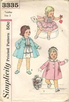 Vintage 1960s Simplicity 3335 Toddler Girl's by BitsNPieces88