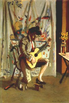Guitarist by Henri Matisse, 1902-03