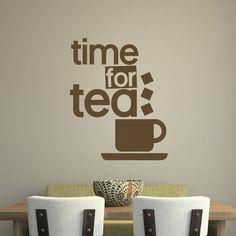 Ta-Dah Wall Art 'Time For Tea' Wall Sticker #ad #commissionlink