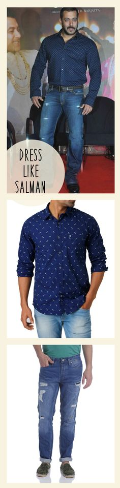So who wants to dress like ‪#‎SalmanKhan‬.... Check out the amazing celeb like collection at Kapsons.com ‪#‎Kapsons‬ ‪#‎CelebrityStyles‬ ‪#‎Menswear‬