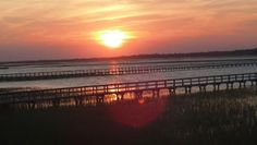 Awesome sunset on Folly River
