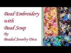 Bead Embroidery: Barrette Made WIth Bead Soup - Bead Embroidery Tutorial - YouTube