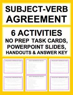No prep print go subject verb agreement worksheets lesson plan sat grammar test prep introduce practice subject verb agreement answer keys includes platinumwayz