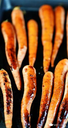 Balsamic Roasted Carrots make a simple, delicious side dish. Made with whole carrots drizzled with a balsamic mixture and roasted until fork tender.