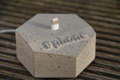 #phone Dock by Betonflocke, for iPhone 5 & 6. Handmade in Germany.