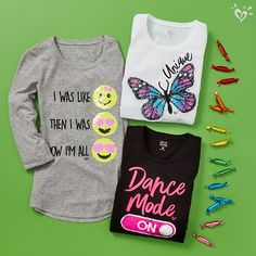 Our new flip sequin tops are adorable and so giftable.