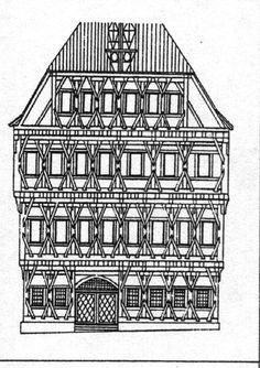 Ausmalbilder burg 351 malvorlage alle ausmalbilder for Fachwerkhaus skizze