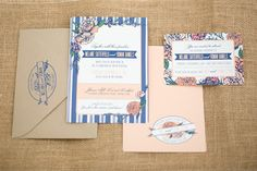 Polka Dots & Daisies: Melanie + Roman: French Country Wedding Invite