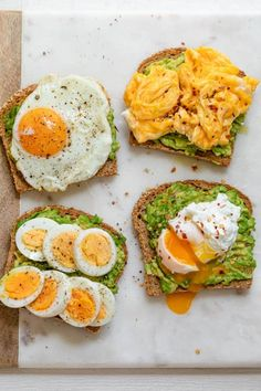 Plats Healthy, Healthy Protein, Healthy Breakfast Snacks, Diet Breakfast, Avacado And Egg Breakfast, Healthy Sweets, Quick Easy Breakfast, Protein Packed Breakfast, Breakfast Toast