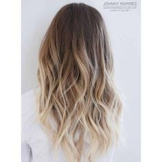 90 Balayage Hair Color Ideas with Blonde, Brown and Caramel Highlights ❤ liked on Polyvore featuring beauty products and haircare